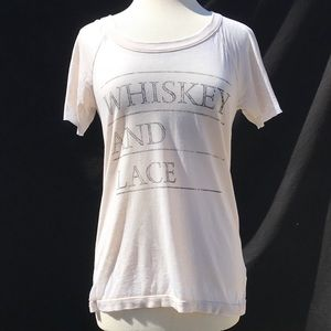 Chaser: Whiskey and Lace Beige Tee
